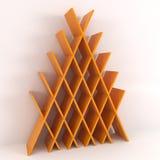 Modern Bookshelf isolated on white. 3d illustration Stock Image