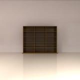 Modern Bookshelf isolated on white. 3d illustration Royalty Free Stock Photo