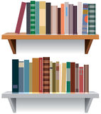 Modern bookshelves Royalty Free Stock Images