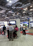 Modern booth design. In exhibition, communicasia booth 2013 royalty free stock photos