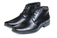 Modern boots on a white Royalty Free Stock Photos