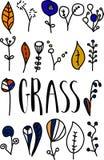 Modern borstekalligrafi Handskriven färgpulverbokstäver Hand drog beståndsdelar Vektor Illustrationer