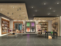 modern boutique interior with clothes. Stock Images
