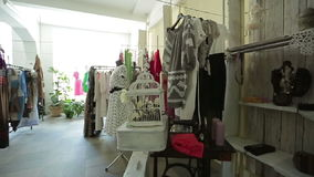 Modern boutique interior, the female store stock video footage
