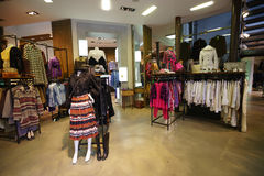 Modern boutique interior Stock Images