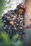 Modern Bow Hunter Stock Images