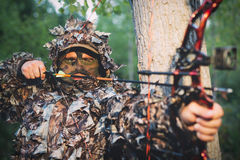 Modern Bow Hunter Royalty Free Stock Photo