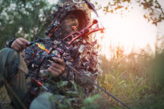 Modern Bow Hunter Royalty Free Stock Photos