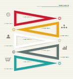 Modern box Design Minimal style infographic templa Stock Images