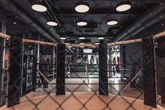 Modern boxing ring stock photography