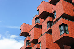 Modern boxlike building in Vienna, Austria Stock Image