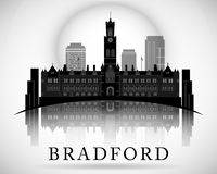 Modern Bradford City Skyline Design. England Stock Photo