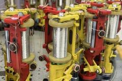 Modern braiding machine. Royalty Free Stock Images