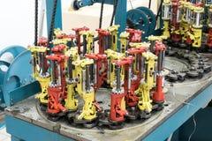 Modern braiding machine. Stock Images