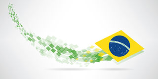 Modern brazil banner Royalty Free Stock Images