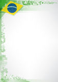 Modern brazil poster royalty free illustration