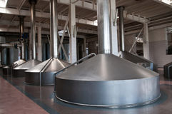 Modern brewery. The Brewing copper Stock Photos