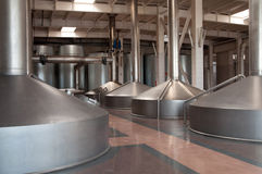 Modern brewery. The Brewing copper Stock Images