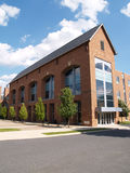 Modern brick building exterior stock photo