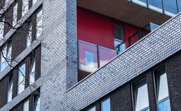 Modern brick facade Stock Images