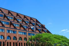 Modern Brick Hotel in Boston Royalty Free Stock Image