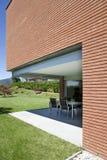 modern brick house stock image