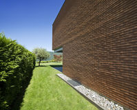 Modern brick house Stock Image
