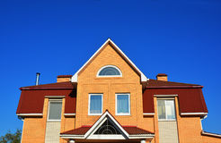 Modern Brick House Facade Exterior. Stock Photos