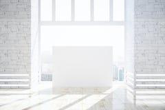 Modern brick interior with blank banner Stock Photo