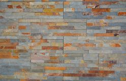 Modern brick pattern wall in pastell tone. Good ideas for home design stock photo