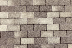Modern brick stone pedestrian pavement Royalty Free Stock Photography