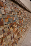 Modern brick wall perspective Royalty Free Stock Images
