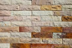 Modern Brick Wall Surfaced Stock Photo