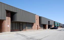 Modern brick warehouse stock image