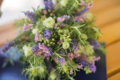 Modern bridal bouquet. Modern woman chooses simple and even organic wedding bouquet Stock Photos