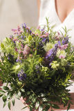 Modern bridal bouquet. Modern woman chooses simple and even organic wedding bouquet Royalty Free Stock Photo