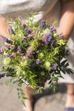 Modern bridal bouquet. Modern woman chooses simple and even organic wedding bouquet Royalty Free Stock Image