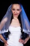 Modern bride. With bridal veil stock image