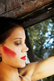 Modern Bride with heavy makeup Royalty Free Stock Images