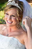 Modern Bride Outdoors Royalty Free Stock Photo