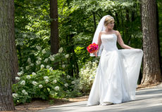 Modern Bride Outdoors Stock Photography