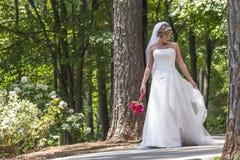 Modern Bride Outdoors Royalty Free Stock Photos