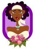 Modern Bride in Purple frame Royalty Free Stock Image