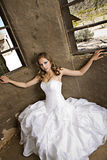 Modern Bride in White Royalty Free Stock Image