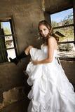Modern Bride in White Stock Photos
