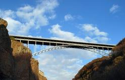 The modern bridge. Passing through a canyon stock photos