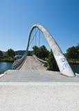 Modern bridge - 2. Front view of a modern bridge over Lerez river. Seen in Pontevedra, Spain Stock Image