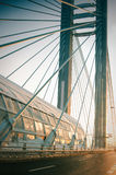 Modern bridge. Details of a modern bridge in a winter day Royalty Free Stock Images