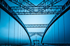 Modern bridge Royalty Free Stock Photos