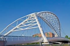 Modern Bridge. Garbatella Bridge, a modern bridge in the heart of Rome, Italy stock photos